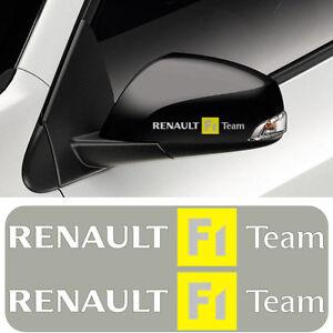2x RENAULT F1 Team Vinyl Decal Sticker. Gloss finish. Text - White/Black/Silver