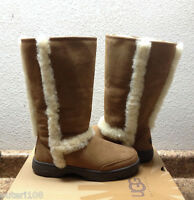 Ugg Sunburst Ultra Tall Chestnut Shearling Leather Boot Us 10 / Eu 41 / Uk 8.5