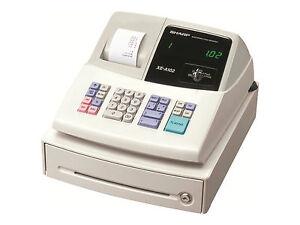 sharp xe a102 electronic cash register xea102 xe a102 ebay rh ebay com sharp cash register manual xe-a102 sharp cash register xe a102 troubleshooting