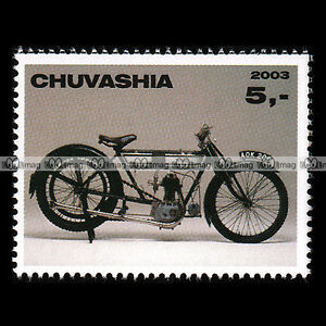 NORTON-500-BS-039-OLD-MIRACLE-039-1912-CHUVASHIA-Timbre-Moto-Collection-Stamp-305