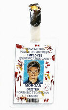 Dexter ID Badge Forensic Technician Blood Cosplay Prop Gift Costume Comic Con