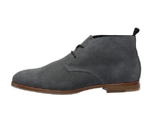 Cuero Gamuza a Para Hombre de moda hechas a Gamuza mano Formal Zapatos Botas Hombre Gris 2426e4