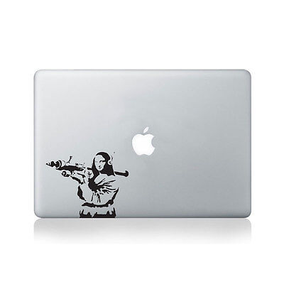 Banksy Mona Lisa With RPG Vinyl Decal for Macbook (13/15), Laptop or Guitar /...