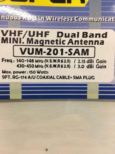 OPEK VUM201-SMA male  Ham 144//444 MHZ Mini  Mag Mount W// Rare Earth Magnet F//S