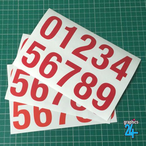 Vinyl Number Stickers 50mm Peel Stick House Bin Sign Van Craft Self Adhesive