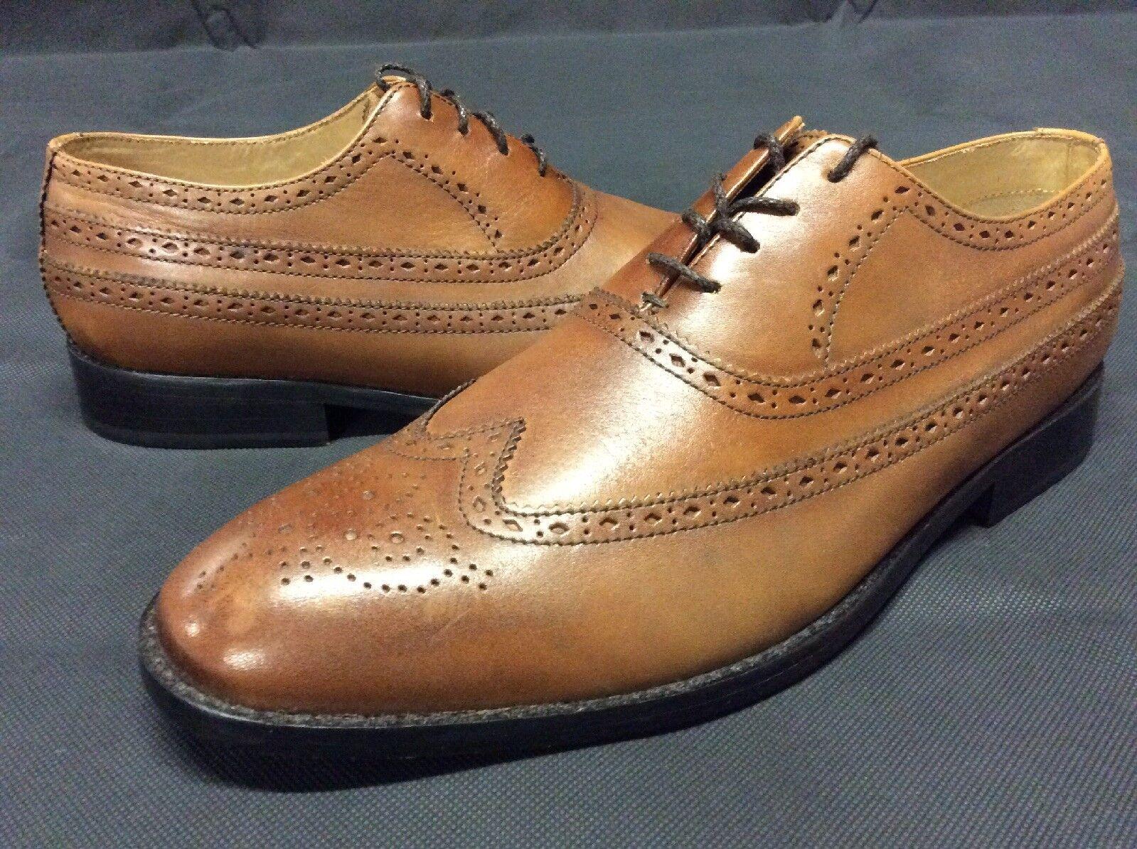 Ben Sherman HENRY COGNAC Uomo's Oxford Dress Shoes, Brown, Size 8