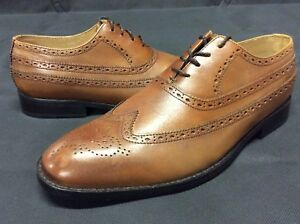 Ben-Sherman-HENRY-COGNAC-Men-s-Oxford-Dress-Shoes-Brown-Size-8