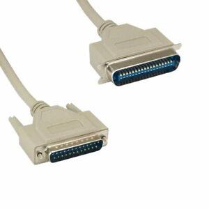 Kentek-3FT-DB25-to-CN36-Parallel-Printer-Data-Cable-Cord-RS-232-28AWG-Dot-Matrix