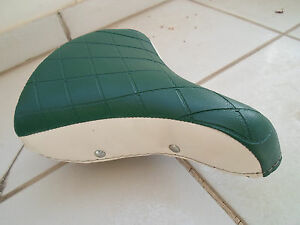 VINTAGE N.O.S. BICYCLE SADDLE VINYL-SILPA- MADE IN ITALY 1970 NEW 3 small holes