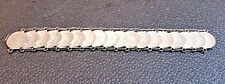 18 Mexican Silver 20 Centavos Coin Vintage Bracelet 7.5 inches