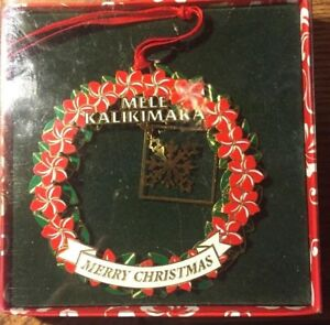 Hawaiian Merry Christmas.Details About Things Hawaiian Merry Christmas Mele Kalilimaka Ornament Boxed