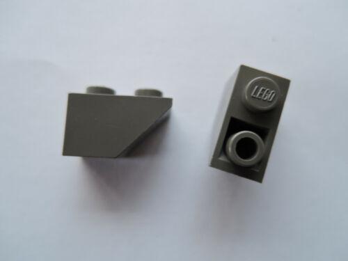 Lego 8 x Dachstein planos inclinados piedra slope 3665 45 ° 2x1 negativo ALT gris oscuro