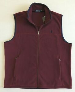 Polo-Ralph-Lauren-Pony-Fleece-Soft-Shell-Zip-Down-Classic-Sport-Vest-Jacket-L