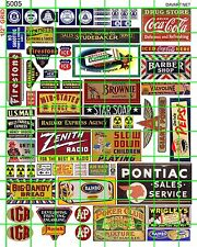 5005 DAVE'S DECALS VINTAGE SIGNS PHONE COLA GAS OIL GROCERY AUTO ADVERTISING