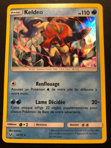 Carte Pokemon KELDEO 26//73 Holo Soleil et Lune 3,5 SL3.5 FR NEUF