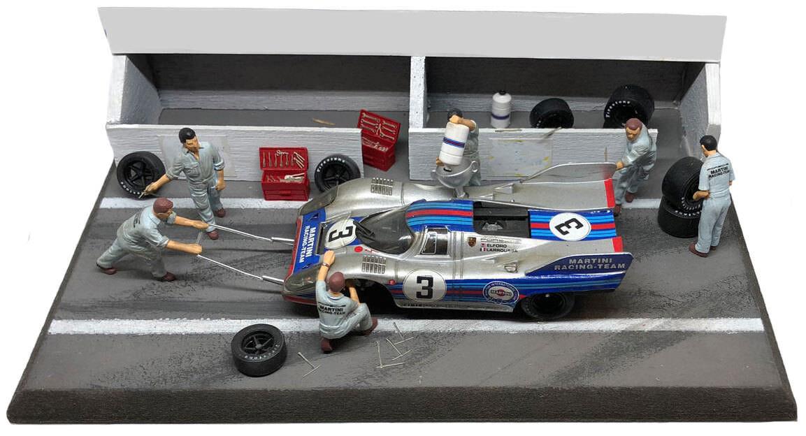 NCB003 Porsche 917K Monza 1000km 1971 - Diorama Pit Stop Set 1 43 Scale