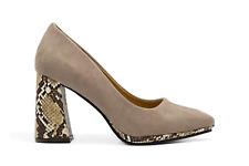 Zapato de tacón ante y serpiente - Azarey