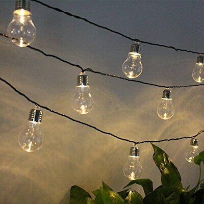 Solar Retro Edison Bulb String Lights