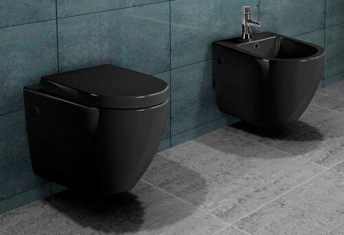 mit //ohne Spülrand Wand Hänge Stand WC Toilette Nano Beschichtung Softclose Sitz