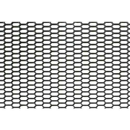 Original-look griglia aerazione in pp esagono fine 8x18 mm 120x40 cm nero 37n