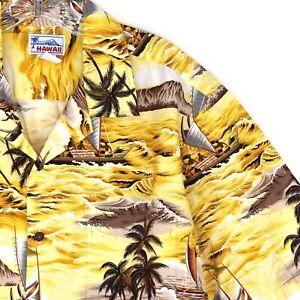 Hawaii-Mens-Shirt-Aloha-Hokulea-Iako-XL