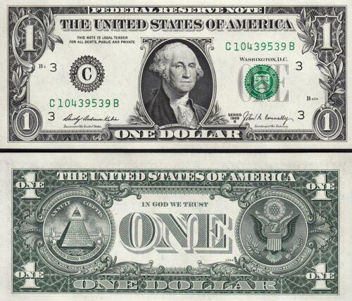 3 PHILADELPHIA USA US 1$ DOLLAR  FRN 1969 B UNC C PENNSYLVANIA