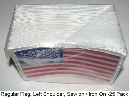 "White Trim,Sew//Iron on,1-1000 //Pack USA American Flag Patches 3.5/""X 2"",US Patch"
