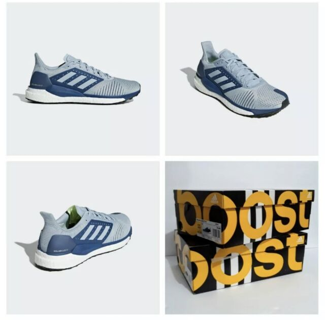 Adidas Boost Solar Glide ST Men's Running Athletic Shoes Blue & White NEW