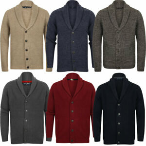 New-Mens-Tokyo-Laundry-Shawl-Neck-Long-Sleeve-Wool-Blend-Cardigans-Size-S-XXL