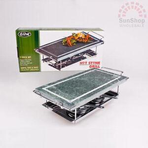 100 genuine hot stone grill 7 piece set rrp 9313492920192 ebay. Black Bedroom Furniture Sets. Home Design Ideas