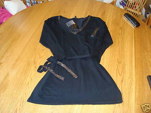 Bcbg Maxazria Femmes Juniors M Noir Pull Nwt 180.^^