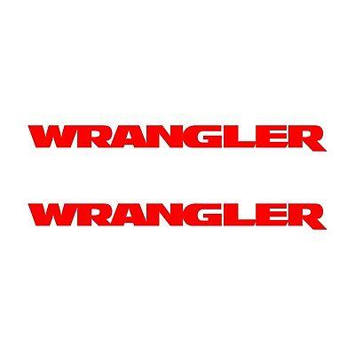WRANGLER Jeep Hood Decals Set Stickers Fender CJ YJ TJ JK JKU Decal 2FS