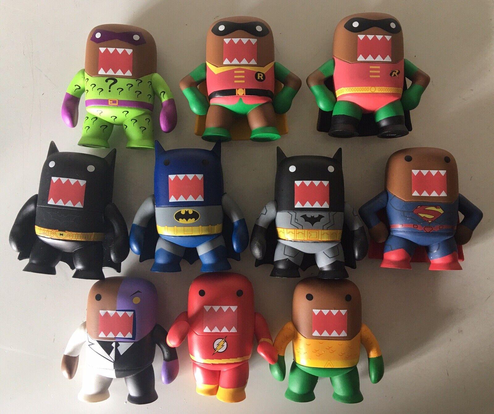 divertiessitoko DOMO DC Comics Superhero Mystery Minis cifra Lot Of 10 BATuomo SUPERuomo