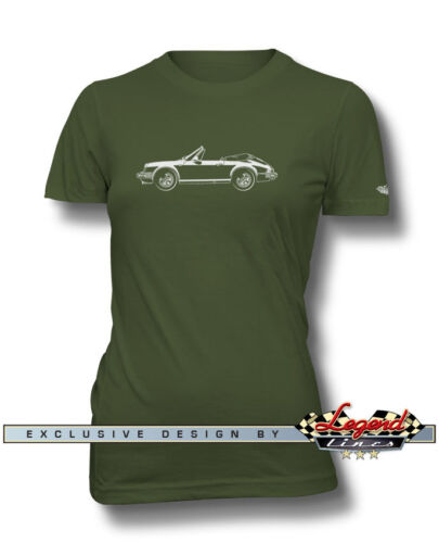 Multiple Colors and Sizes Porsche 911 Convertible Cabriolet T-Shirt for Women