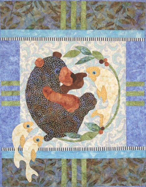 Java House Quilts Does It Bite Bear And Fish Applique Quilt Pattern