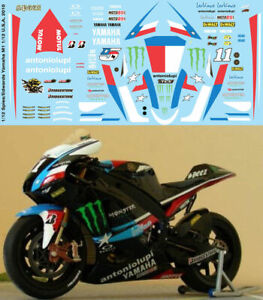 1/12 Ben Spies Colin Edwards Yamaha M1 Indianapolis 2010 Decals Tb Decal Tbd92