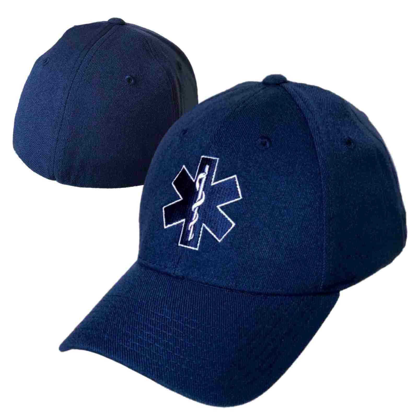 fc969610b32 Details about Emergency Medical Technician EMT Cross EMS Paramedic Flex Baseball  Cap Hat L XL