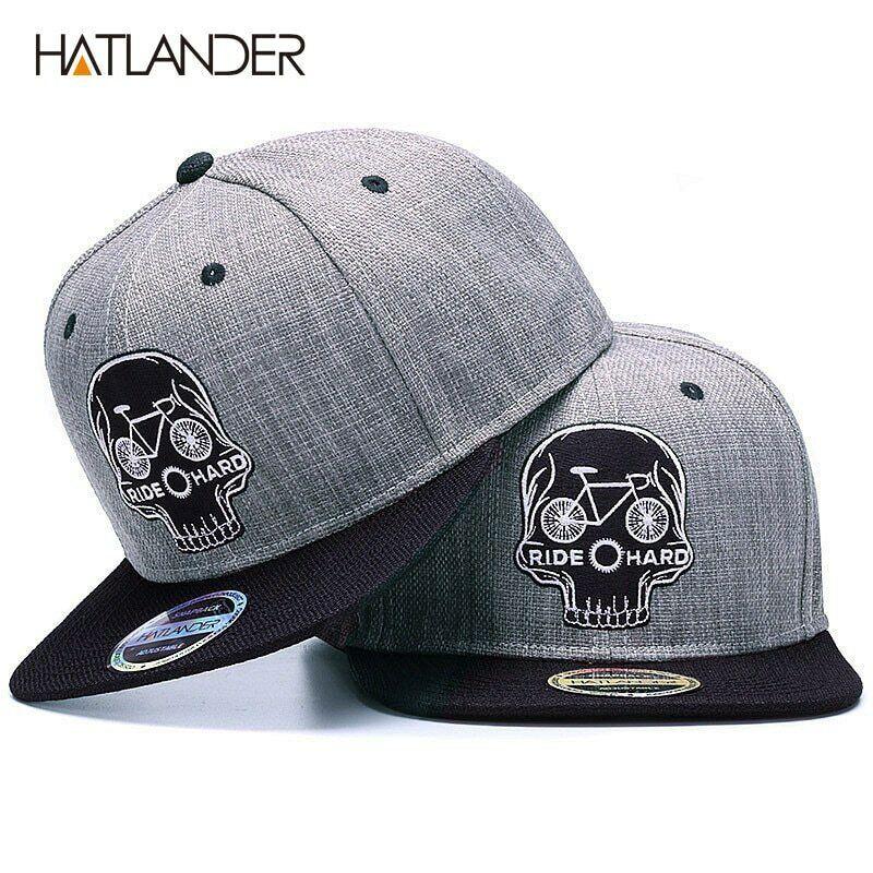 Dark Blue Baseball Hats for Men Embroidered Cap Embroidery Snapback Hat Kings Skull