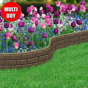 Recycled Rubber Lawn Edging Border Bricks Border Path