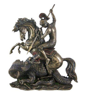 12.5 Inch Statue of Saint St George Dragon Slayer San Jorge Santo Collectible
