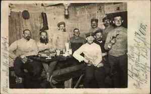 1917-Feldpostkarte-034-aus-militaerischen-Gruenden-verzoegert-034-Echtfoto-AK-Soldaten