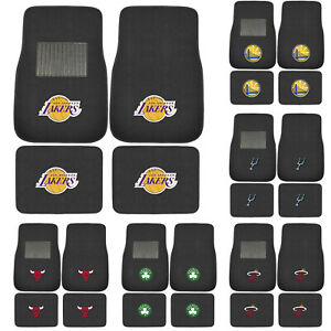 Brand New 4pc Set NBA Pick Your Team Car Truck Front Back Carpet Floor Mats