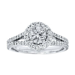 1-20-Ct-Round-Cut-950-Platinum-Diamond-Solitaire-Engagement-Wedding-Ring-Size-5