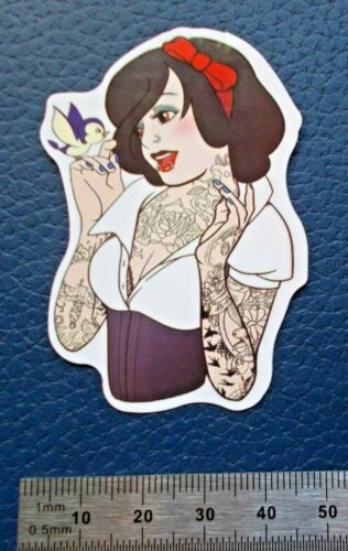 "07 Glanz-Optik Sticker Aufkleber /""Tattoo Princess/"""