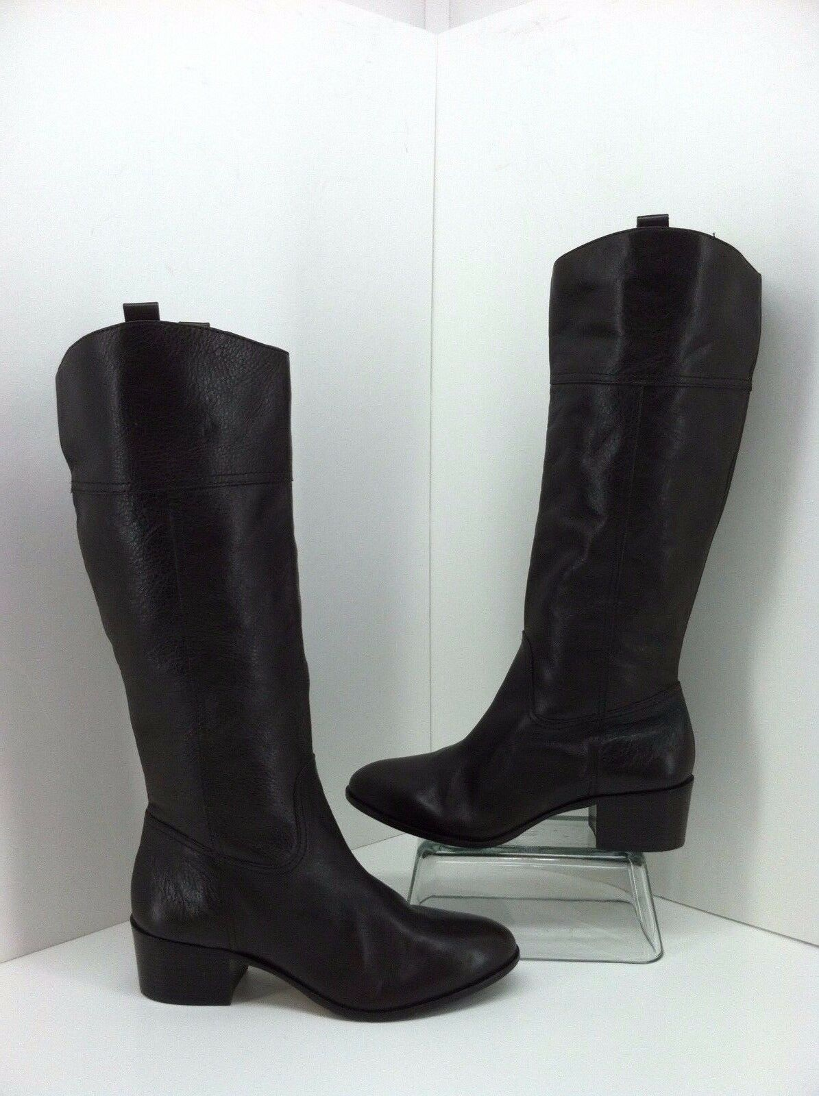 Louise ET Cie Verrah Dark Brown Leather Tall Boots Size 9 B