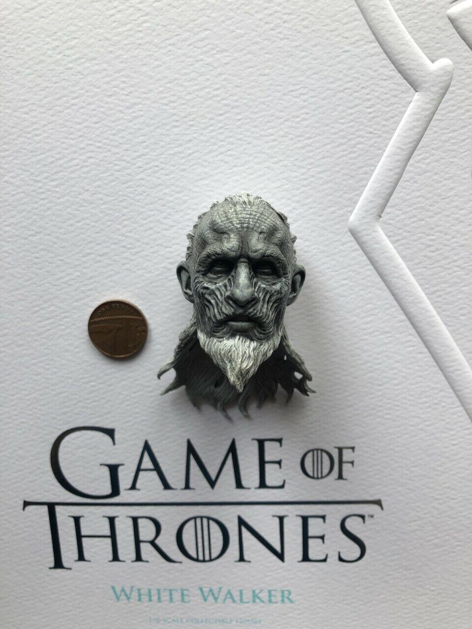 mejor calidad ThreeZero Got Juego of Thrones Thrones Thrones blancoo Walker cabeza esculpida Suelto Escala 1 6th  seguro de calidad