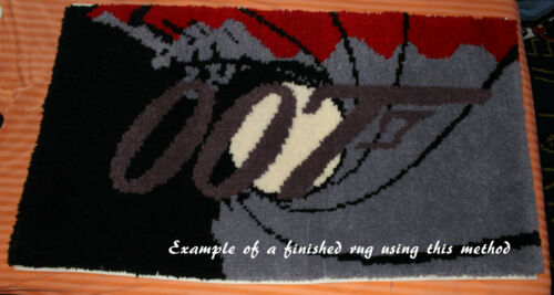 """Kit not included Anchor Latch hook Rug Pattern for 36/"""" x 51/"""" rug"""