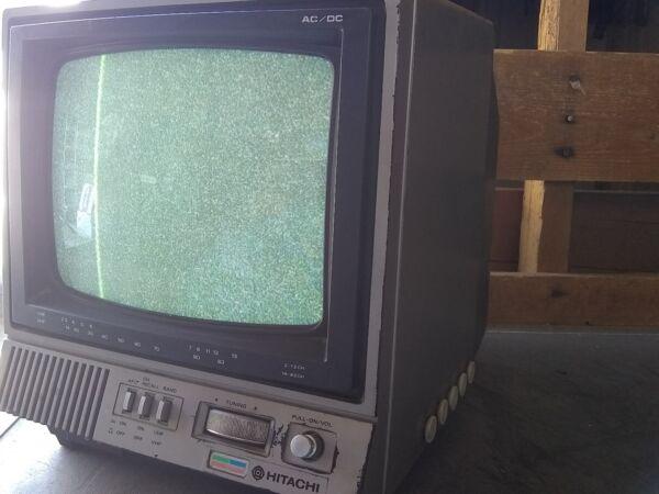 Enthousiast Vintage Hitachi Solid State Color Tv Receiver Ct0911. 1992