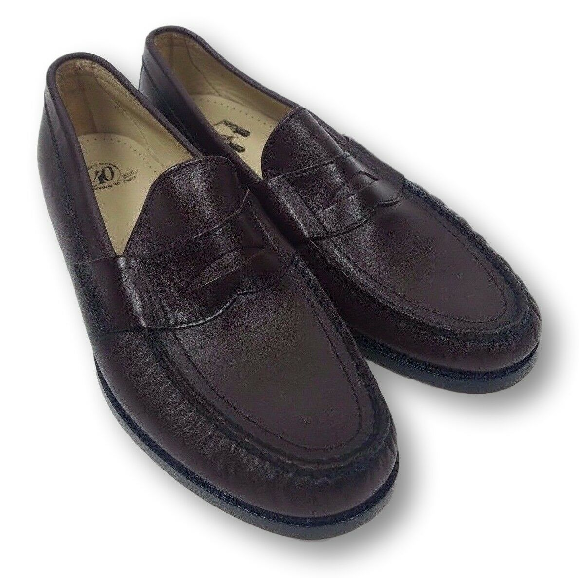 SAS San Antonio Men's 10 Brown Leather Penny 40 Cordovan new shoes Loafer shoes NWOT