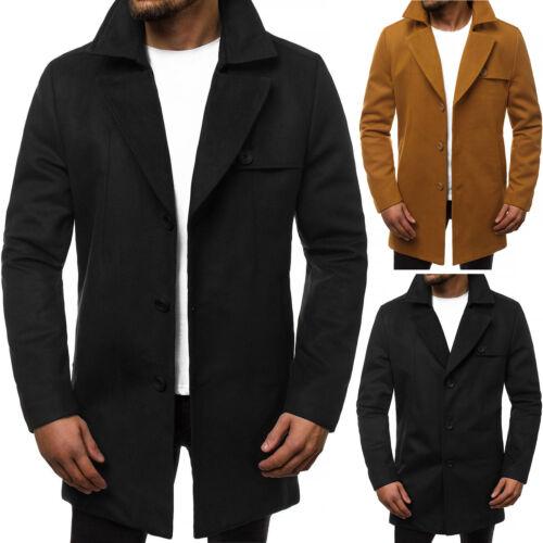Wintermantel Mantel Sakko Jacke Coat Stehkragen Casual Classic OZONEE 922 Herren